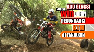 Adu Gengsi Honda WIN Jahat Pecundangi KTM Di Tanjakan   Adventure Trail  