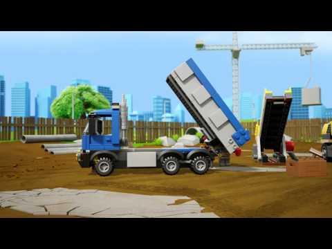 Vidéo LEGO City 60075 : L'excavatrice et le camion
