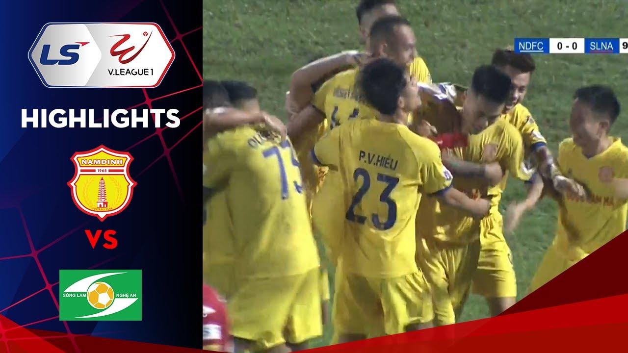 Highlights | Nam Định – SLNA | Phút cuối bùng nổ, thành Nam đua Top