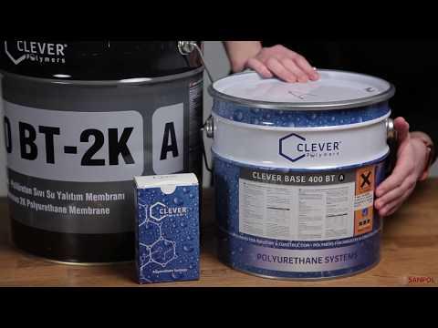 Битумная гидроизоляция Clever Base 400 BT  youtube
