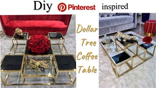 LEARNING HOW TO DIY A LIVING ROOM TABLE| DOLLAR TREE DIY