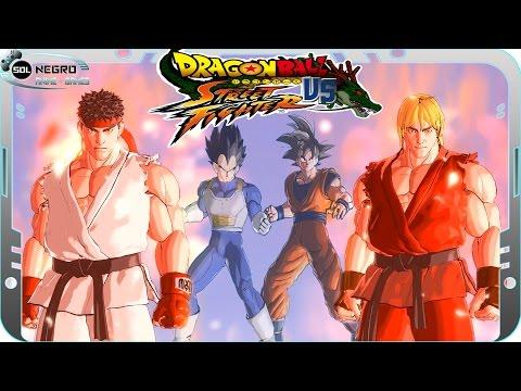 Dragon Ball VS Street Fighter - Ryu and Ken Vs Goku and Vegeta - Part 1 - Xenoverse mod