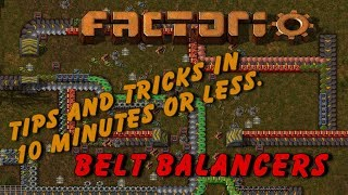 Belt Balancers   Factorio   Tips And Tricks In 10 Minutes