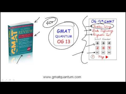 Video of GMAT Quantum OG 13