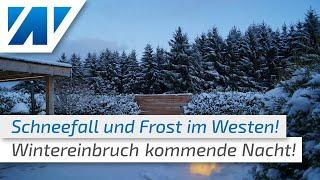 Schneewalze erreicht Deutschland! Kommende Nacht Schnee und Glätte im Westen!