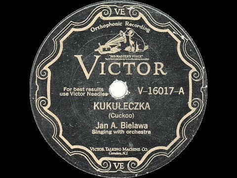 Polish 78rpm recordings, 1928. VICTOR V-16017. Kukułeczka {Cuckoo bird}