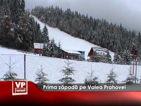 Prima zăpadă pe Valea Prahovei