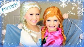 Disneys FROZEN Elsa And Anna Makeup Tutorial : Costume, Makeup, And Hair!