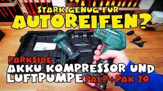 Akku-Kompressor PAK 20-Li B2 Luftpumpe PALP 20-Li B2 von PARKSIDE®