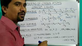 PART2:Rules for numbering of carbon atoms in organic compounds/ structure