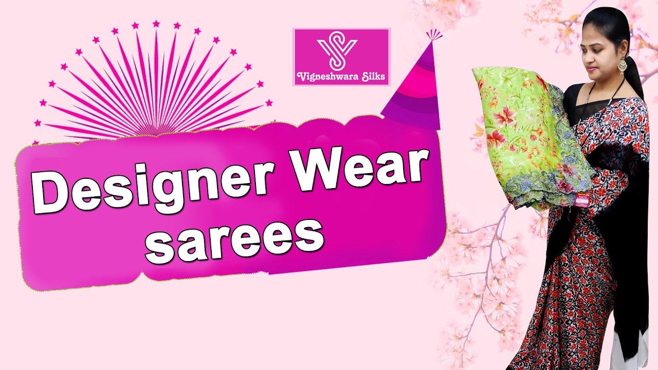 "<p style=""color: red"">Video : </p>Designer Wear sarees    Vigneshwara Silks    2021-01-10"