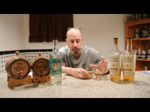 Wicked Dolphin Gold Reserve Aged Rum REVIEW! E-man Booze!