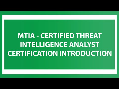 MTIA - Certified Threat Intelligence Analyst Certification Introduction ...