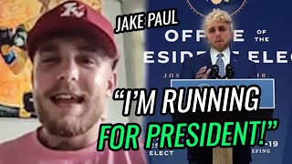 """""""I'm Running For President."""" Jake Paul's CRAZY Announcement With Logan Paul! Ready To Fight LeBron!?"""
