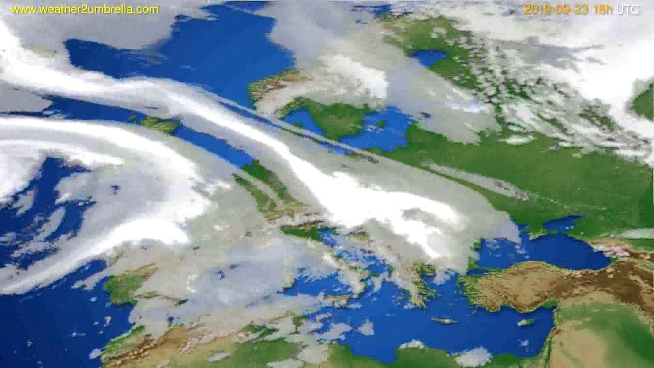 Cloud forecast Europe // modelrun: 12h UTC 2019-09-21