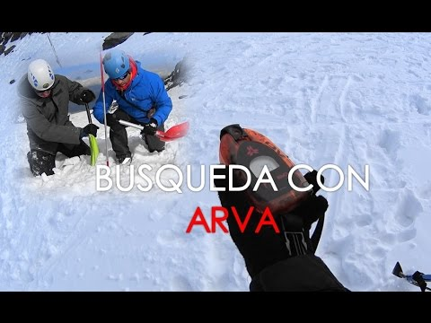 Rescate avalancha con ARVA