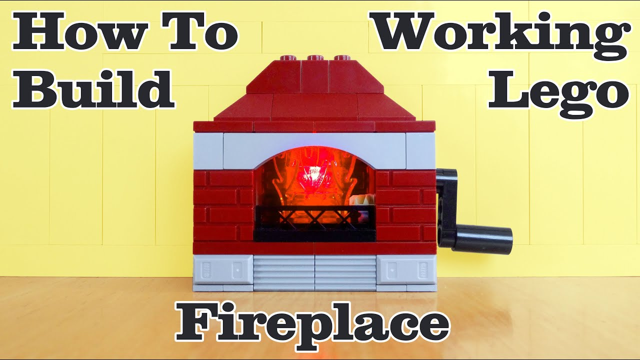 How To Build A Working Lego Fireplace - with Glowing Fire!
