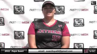 2022 Kaya Suani - 3.8 GPA - Lefty Pitcher Softball Skills Video - Extreme Fastpitch
