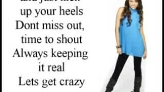 Hannah Montana Lets Get Crazy Lyrics On Screen