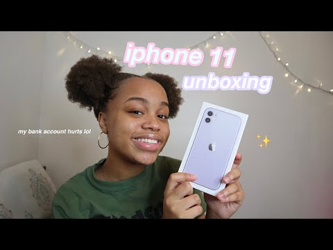 iphone 11 unboxing (my bank account isn't okay) | seasonsofshai