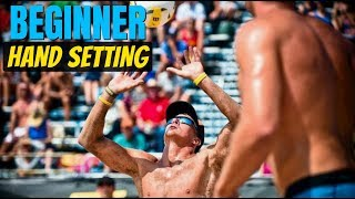 Beach Volleyball Tutorial: How to Hand Set
