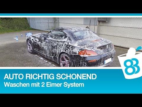 Auto richtig und schonend waschen mit dem zwei Eimer System - BMW Z4 35i waschen