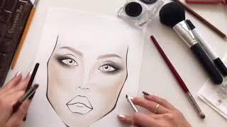 Учимся рисовать на Face ChartsTUTORIAL:How To Use Face Charts