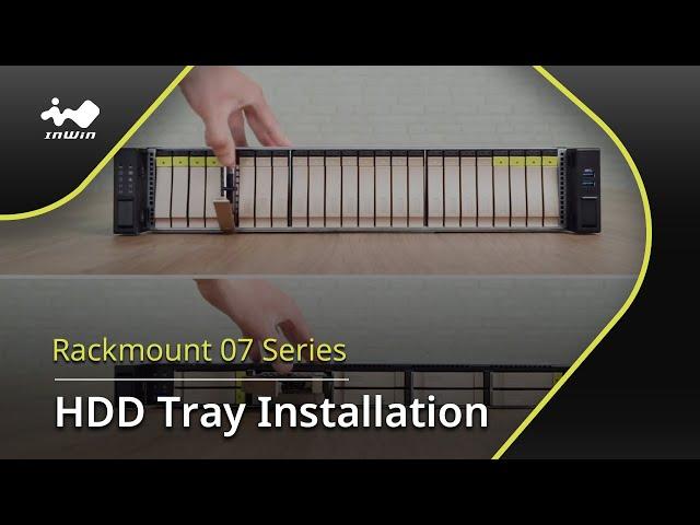 07 Series HDD Tray Installation