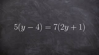 Solving An Equation With Distributive Property On Both Sides