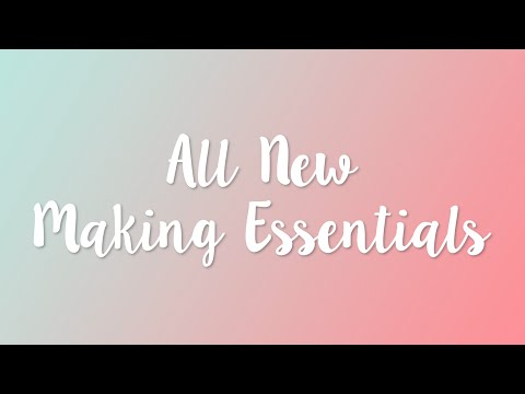 All New Making Essentials- Sizzix