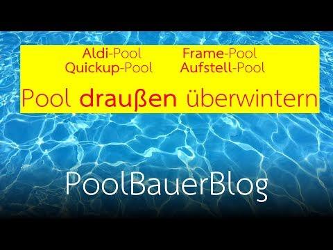 Pool draußen überwintern - Alle wichtigen Schritte erklärt!