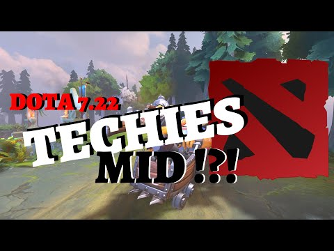 Techies Holding Mid Like Crazy | DotA 2 Patch 7.22