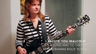 AC/DC - It's A Long Way To The Top - Guitar Cover - Salute to Malcolm Young