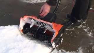 Снегоуборщик электрический видео