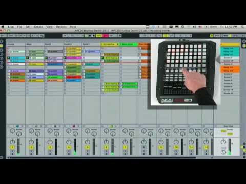 Akai Pro APC20 Ableton Live DJ Controller: Select Track, Activate, Solo, Pan Tutorial