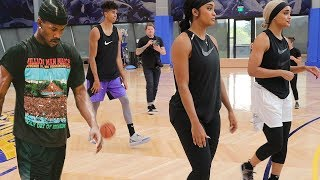 MY FIRST *REAL* NBA WORKOUT! w/ Jimmy Butler's Trainer & Gonzalez Twins!