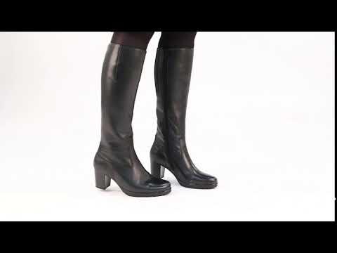 Gabor HIllary M Black Womens Long Zip Boots
