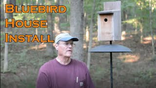 Installing a Blue Bird House
