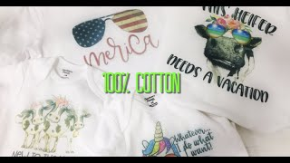 SUBLIMATION ON 100% COTTON!!!!