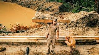 Budowa drewnianej chaty w lesie, odcinek 1