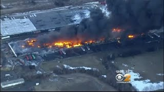 Raging Fire At NJ Warehouse