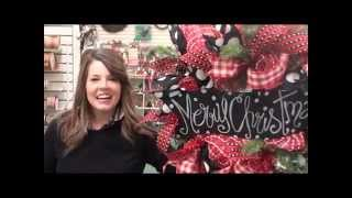 Christmas Mesh Wreath 2015 With Anna