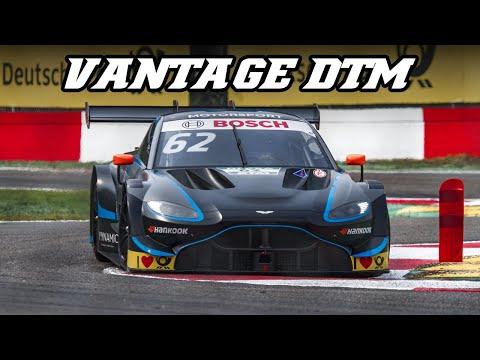 Aston Martin Vantage DTM - fly-by's, backfire & sparks (Zolder 2019)