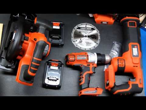 Black & Decker 4-Tool Combo Kit (unboxing)