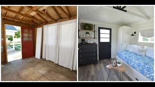 A Garden Shed Is Transformed Into A Guest House On Time Lapse (see FAQs In Description)