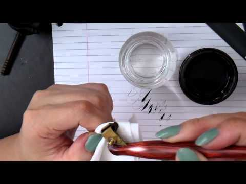 2. Pointed Pen Calligraphy 101: Setting and holding the oblique holder