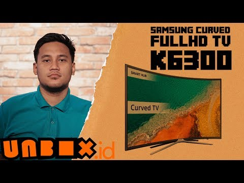 Unboxing Samsung Curved FullHD TV K6300 Indonesia - LEBAAARRR!