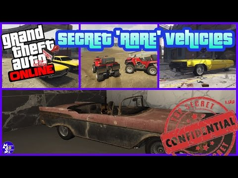 GTA 5 Online 'Secret 'RARE Vehicles Spawn & Location - FREE CARS !! (PS4/XboxOne)
