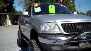 JACKED UP!! 2003 FORD F 150 XLT V8 4X4 FOR SALE!! LEISURE USED CARS 850-265-9178