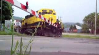 preview picture of video 'NYS&W Train BH-X In Cortland'